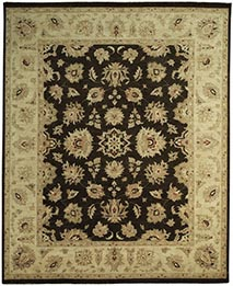 Chobi Rug Black and Beige Persian wool carpet rug sizes.