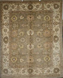 wool rug brown colour 5x8