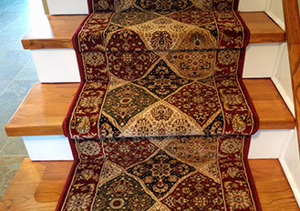 Persian antique style stairs carpet runners Toronto Ontario Canada