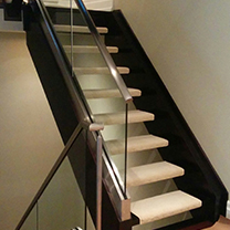 floating stair case carpet runners, carpet installation in North York