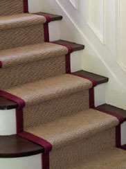 Indoor natural sisal stair runners Toronto installers in Toronto and the GTA including Vaughan, Maple, Kleinburg, Brampton, Scarborough, Mississauga, Markham Stair carpet runners Toronto,