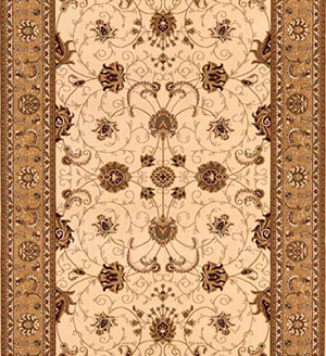 Cream Beige Persian Carpet Runner for Stairs and Hallway