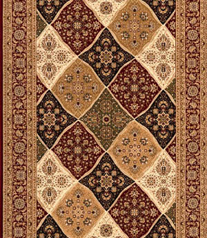Persian Red Beige Black Carpet Runner for Stairs and Hallway