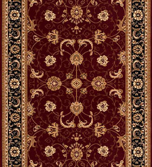Red Black Persian Carpet Runner for Stairs and Hallway