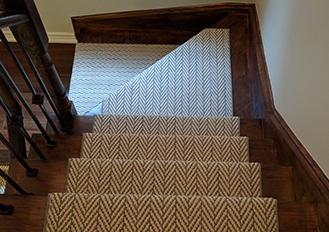 stair runner toronto, striped stair runner toronto,